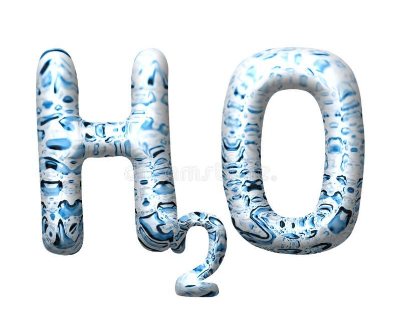 Download 3D water drop letter H2O stock illustration. Illustration of bubbles - 12490122