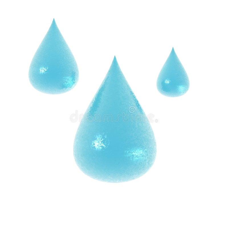 3d water droplets. 3d render of water droplets unique texture stock illustration