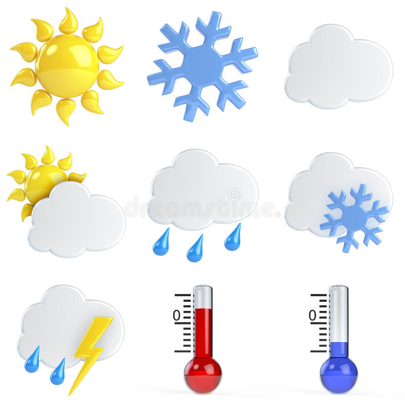 3d Weather Icons vector illustration