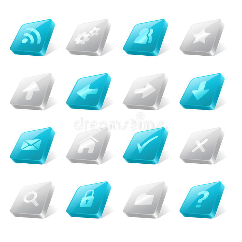 Free 3d Web Buttons Stock Image - 30849431