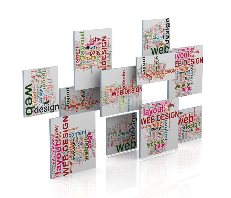 3d web design word tags wordcloud vector illustration