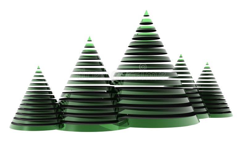 3D Weihnachtsbaum vektor abbildung