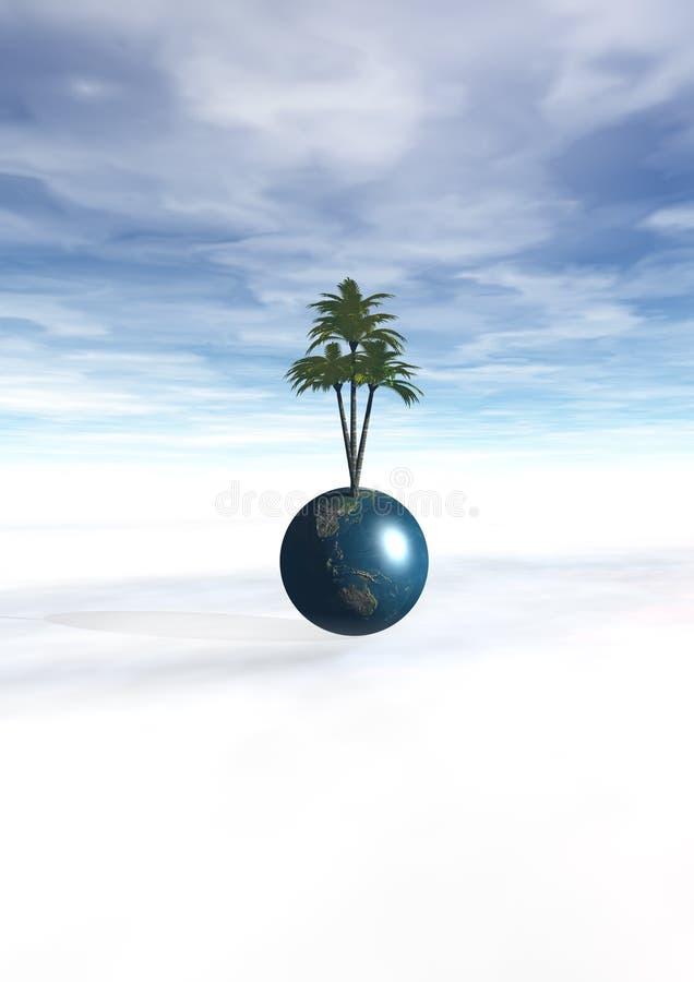 3D Wereld stock illustratie