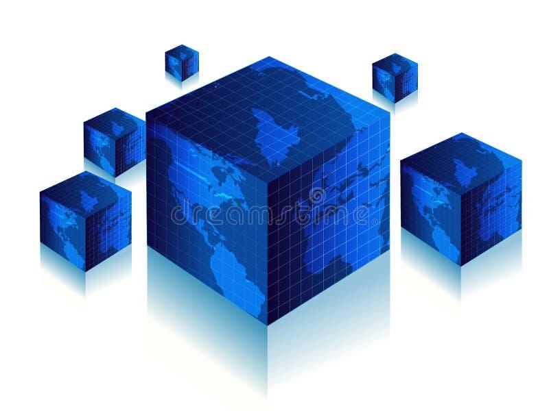 3d wereld vector illustratie