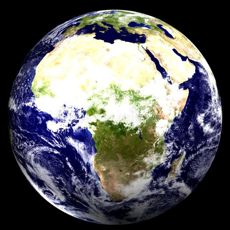 3D Wereld - Afrika vector illustratie