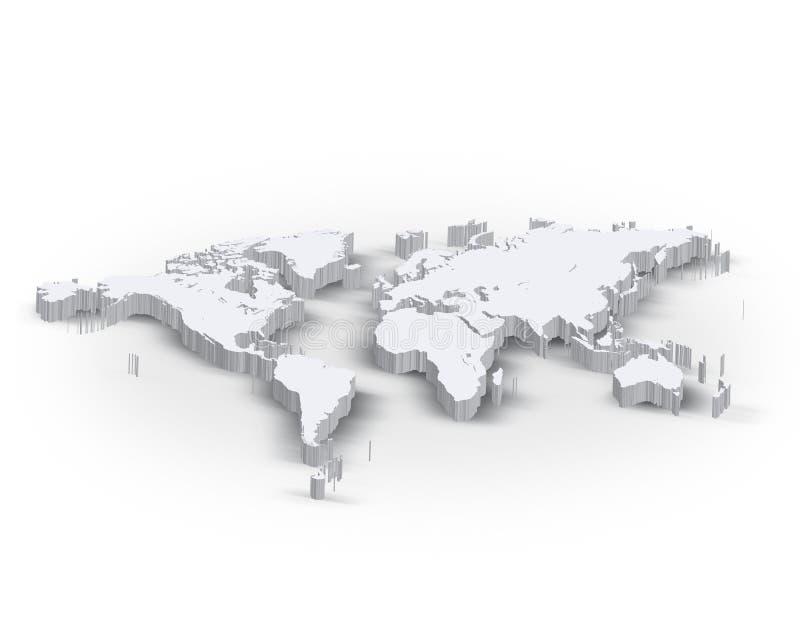 3d wereldkaart vector illustratie