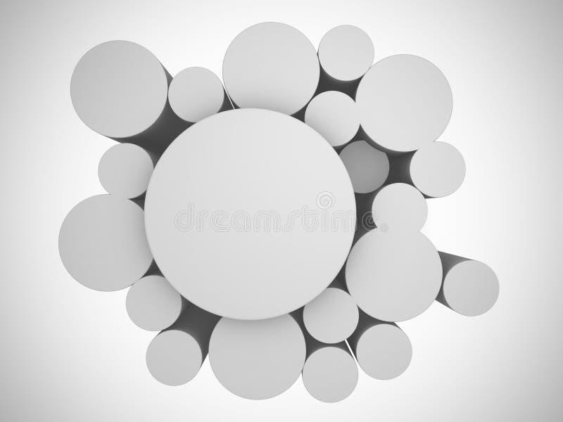 3d white abstract background. Render illustration stock illustration