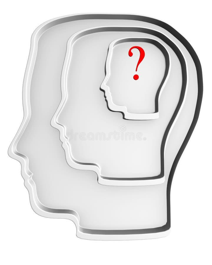 3d white head. vector illustration
