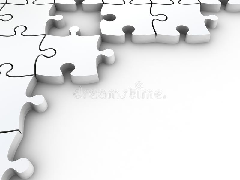 3D White Jigsaw Puzzles Stock Images