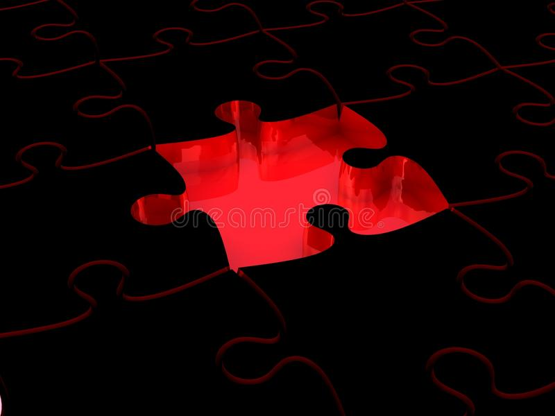 Download 3D white jigsaw puzzles stock illustration. Image of mosaic - 26581452