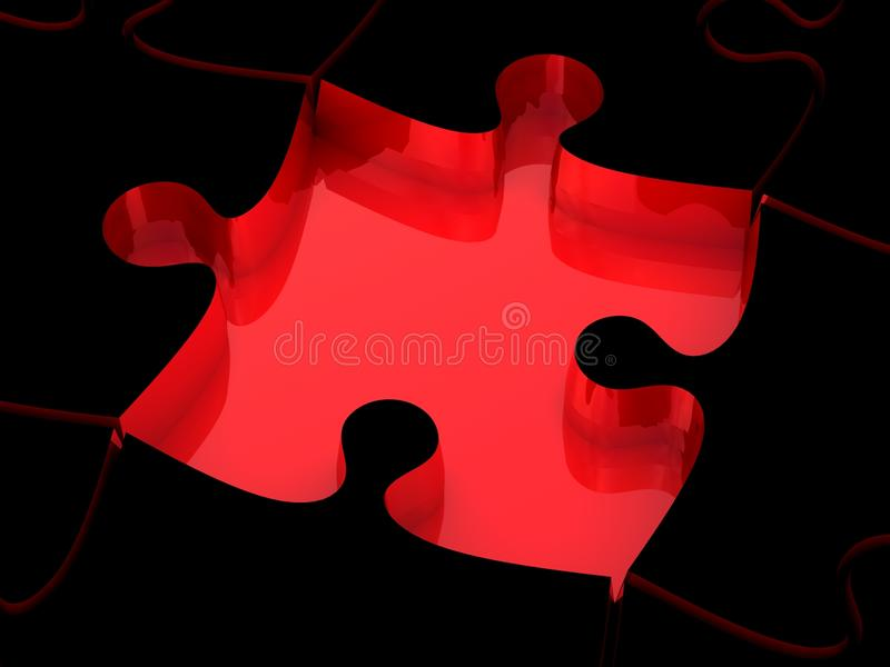 3D White Jigsaw Puzzles Royalty Free Stock Images