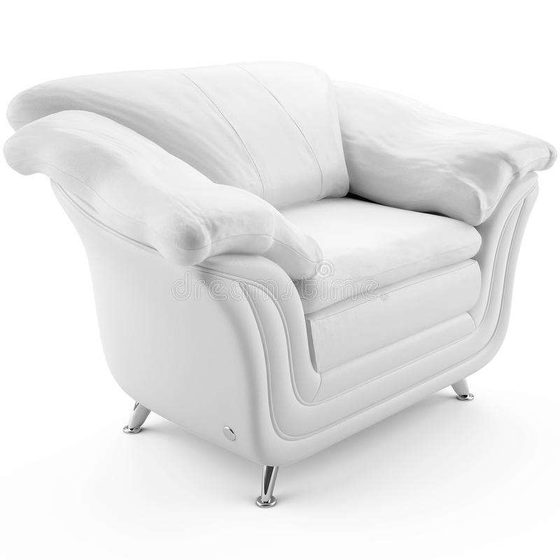Download 3d White Leather Armchair 45 Degree Stock Illustration - Image: 13621640