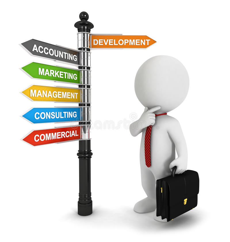 Free 3d White People Businessman Seeking A Job Stock Photo - 26148590