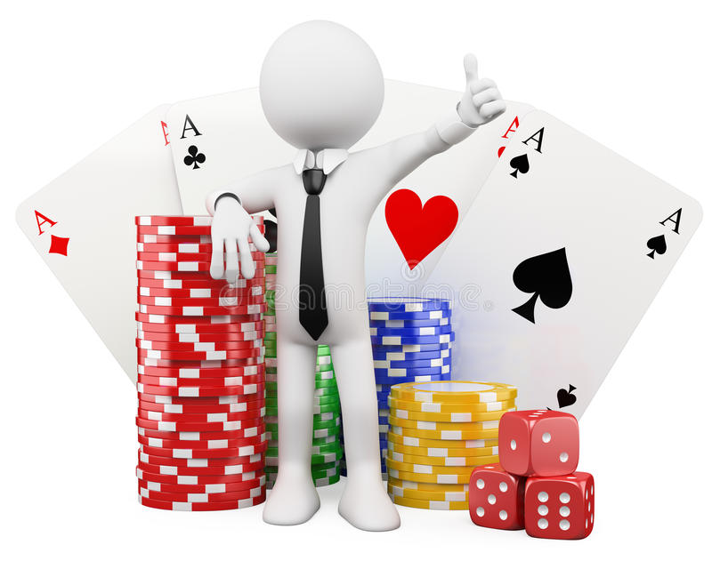 Download 3d White People. Casino Stock Photo - Image: 25117880