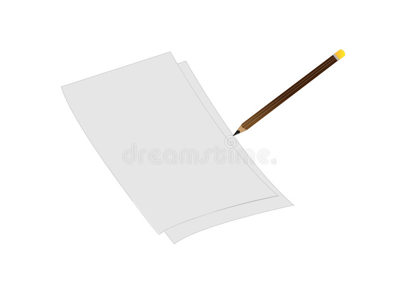 3d white sheet of paper royalty free stock photo