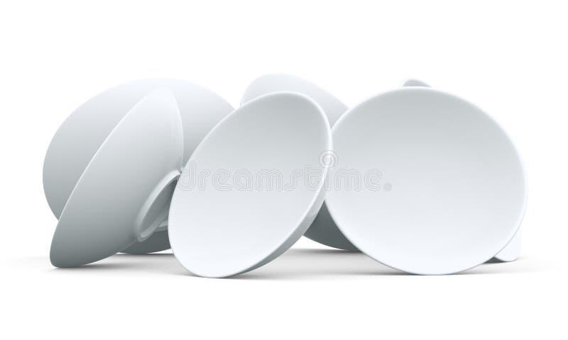 Download 3D White sphere bowl stock illustration. Image of fail - 21771416