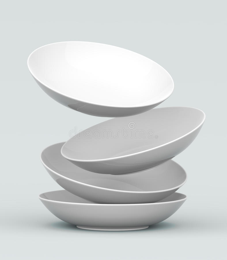 Free 3D White Sphere Dish Royalty Free Stock Image - 21371806