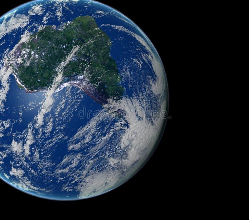 Download 3d świat ilustracji. Ilustracja złożonej z satelita, planeta - 137968