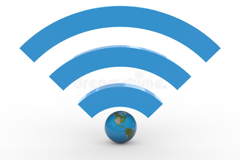 Download 3D Wifi Sign With Earth Globe. High Signal. Stock Illustration - Image: 22562313