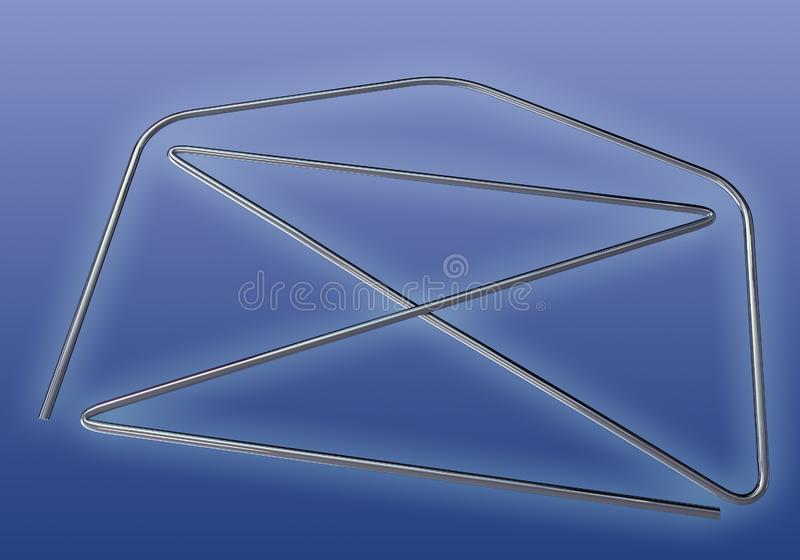 3d Wire Letter Model stock photography