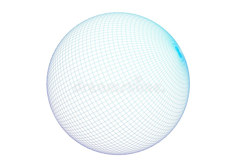 3D - wire sphere royalty free illustration