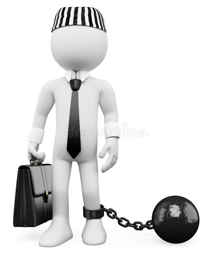 3D witte mensen. Corrupte politicus vector illustratie