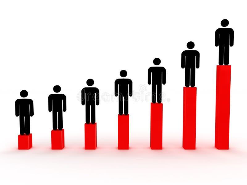3d wizerunków satistics wzrostowi ludzie ilustracji