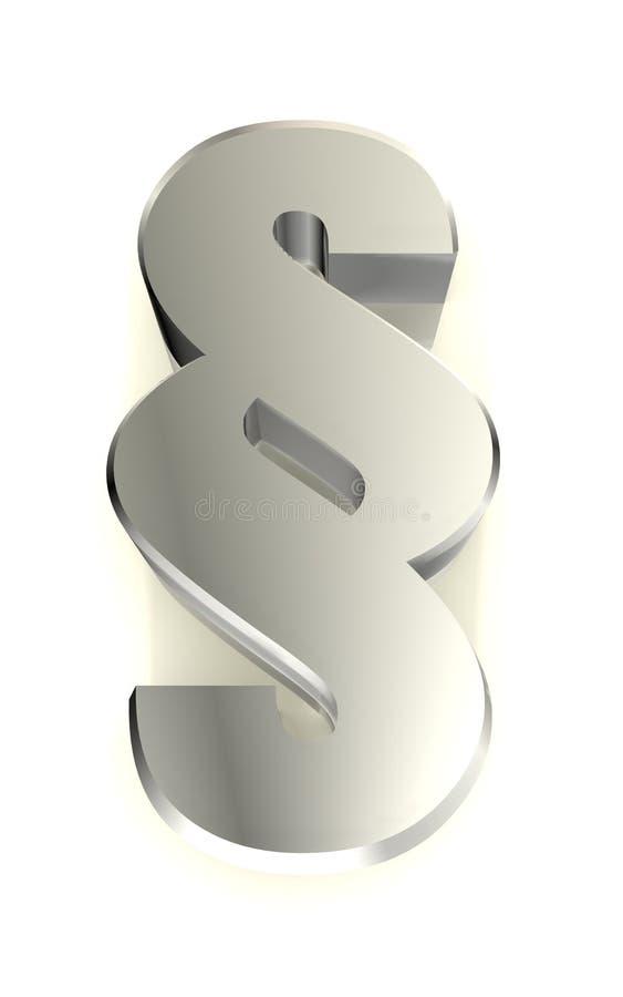 3d wizerunku impressum metalu akapita znak royalty ilustracja