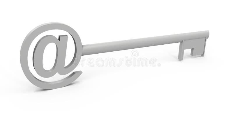 Download 3d wizerunku klucza symbol ilustracji. Ilustracja złożonej z wiadomość - 13325882
