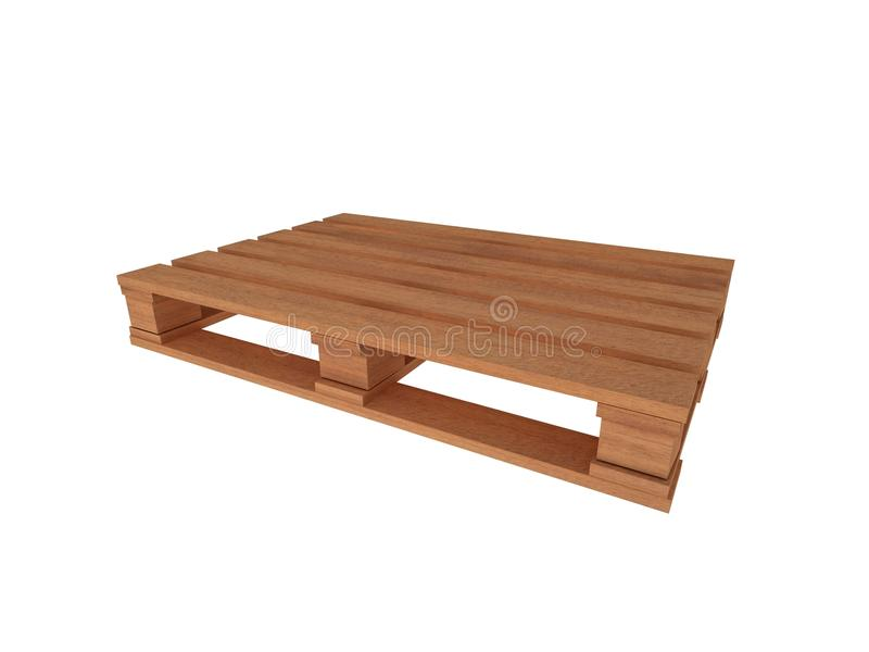 3d wood pallet stock illustration