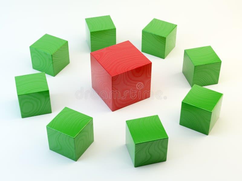 Download 3D Wooden Blocks 3D Wooden Blocks Leadership Con Royalty Free Stock Photos - Image: 24078918