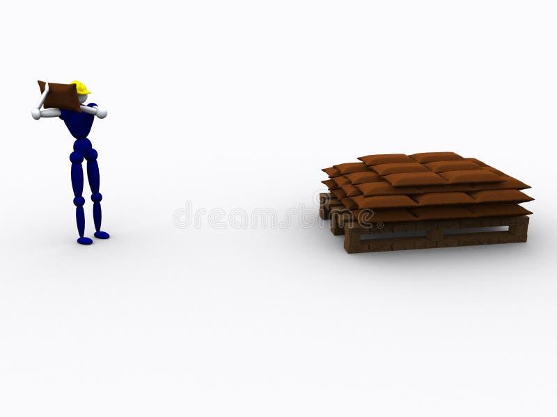 Download 3d Worker vol 3 stock illustration. Illustration of goods - 219534