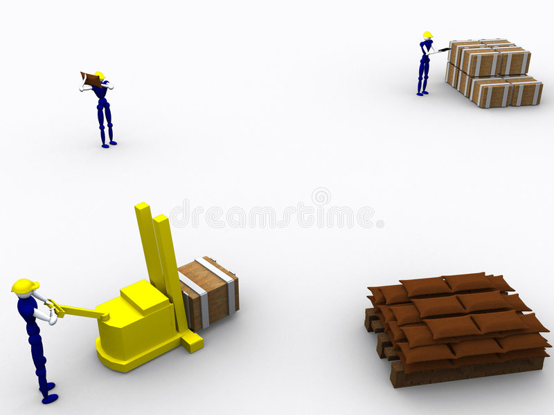 3d Workers vol 5 stock illustration