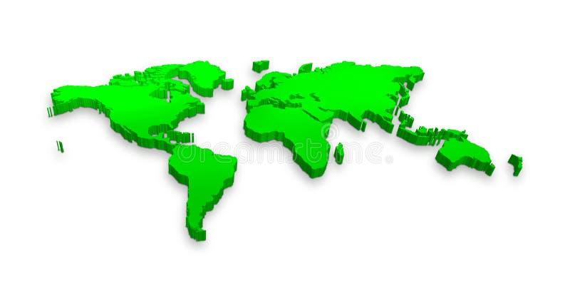 3d world map royalty free illustration