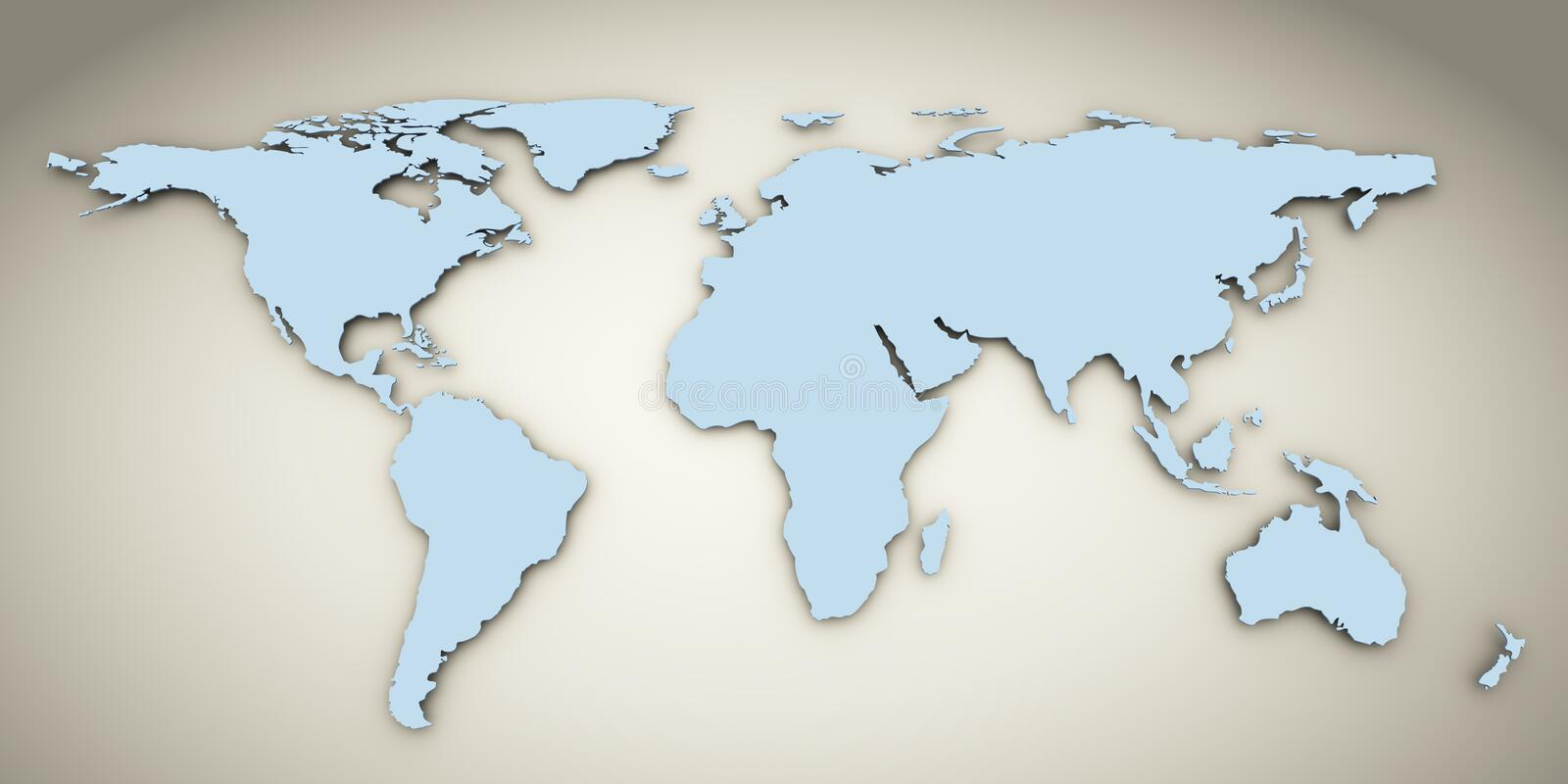 Download 3d world map stock illustration. Image of earth, asia - 22361852