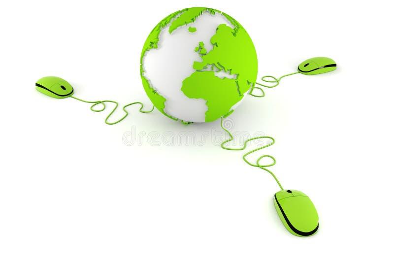 3d World Wide Web concept vector illustratie