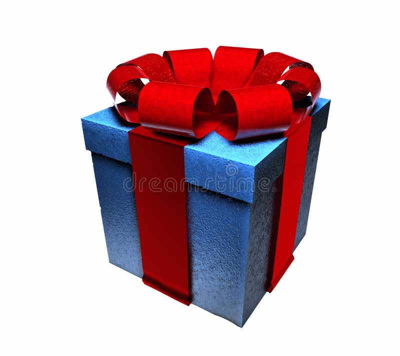 Free 3D Wrapped Gift Royalty Free Stock Image - 6944146