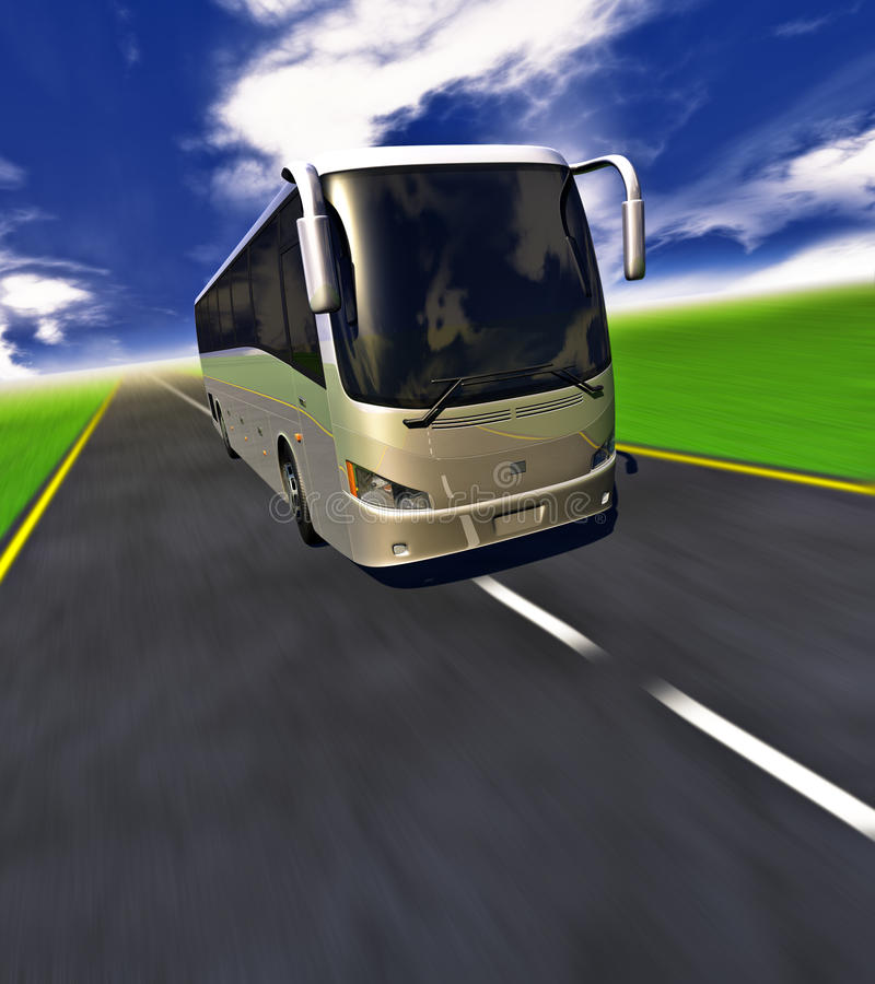 3D Wycieczka autobusowa royalty ilustracja