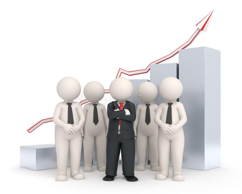 3d wykres biznesowa pieniężna drużyna