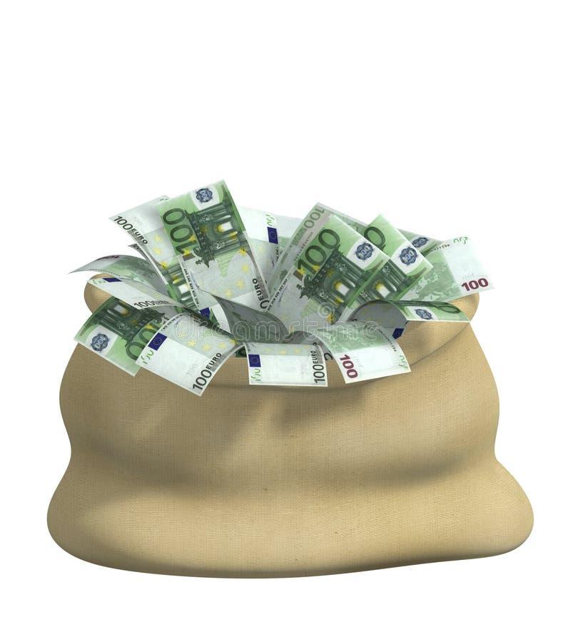 3d wypełniający torba euro zdjęcie royalty free