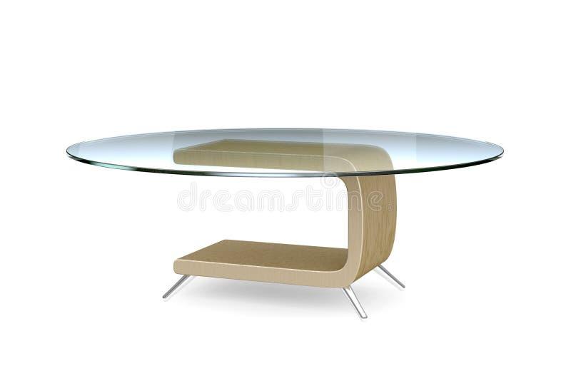 3d wzorcowy nowożytny stół ilustracji