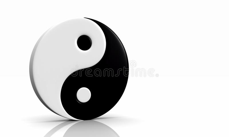3d yin und yang symbol 03 stock illustration illustration of rh dreamstime com Yin Yang Art Yin Yang Border