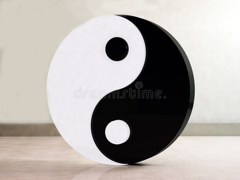 3d Yin-Yang illustration libre de droits