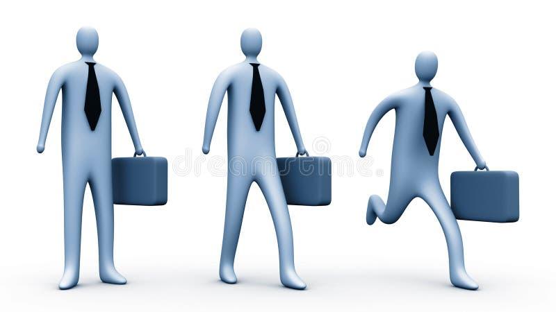 3d zakenlieden stock illustratie