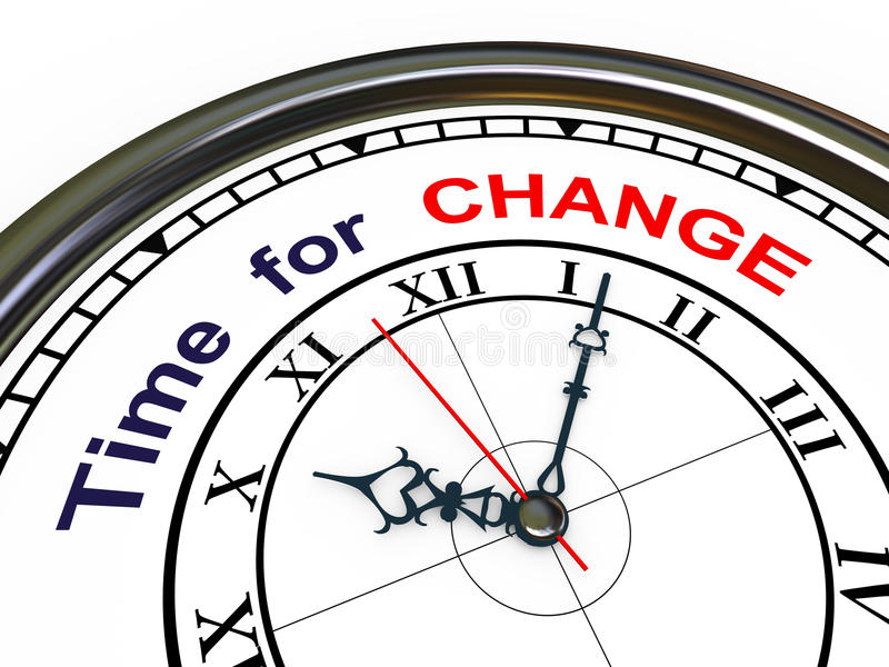 3d zegar - czas dla zmiany ilustracja wektor