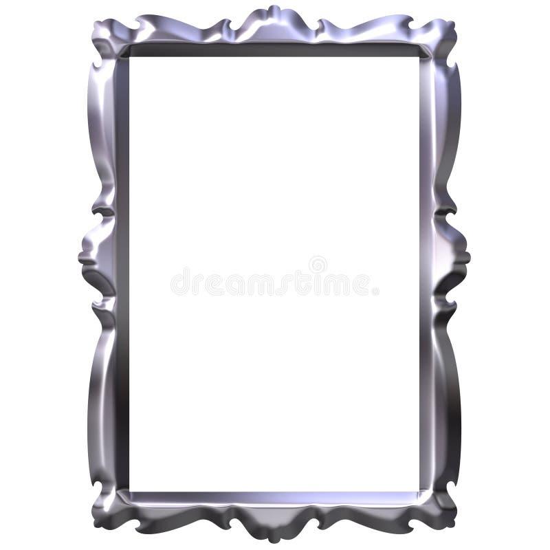 3D Zilveren Frame stock illustratie