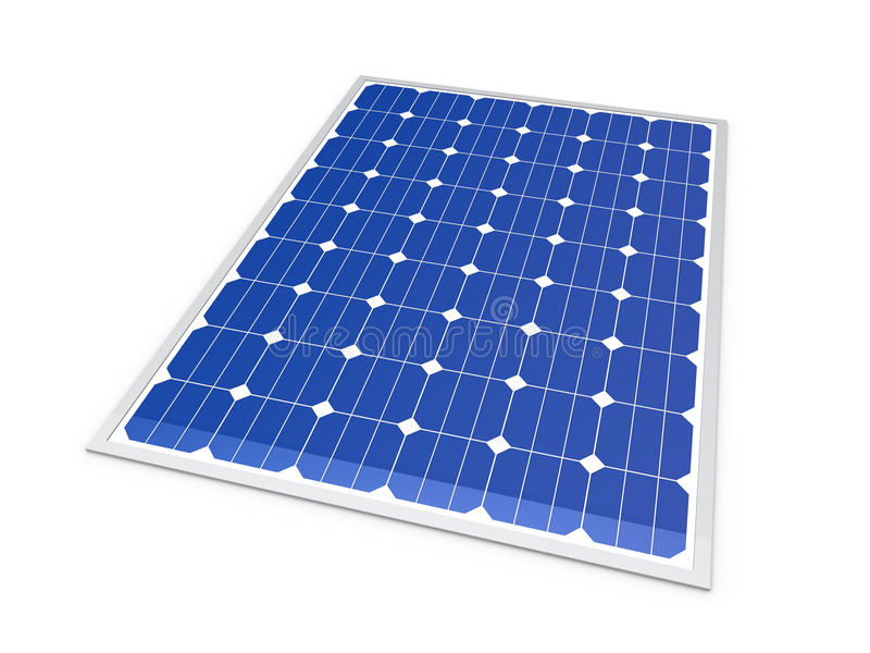 3d zonnemachtsenergie royalty-vrije illustratie