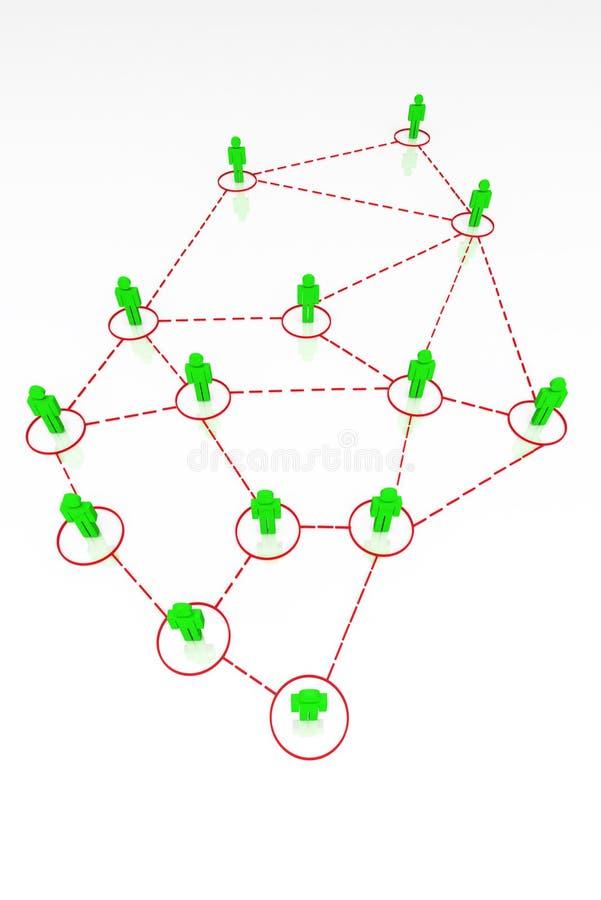 3d związek istota ludzka odpłaca się ilustracji
