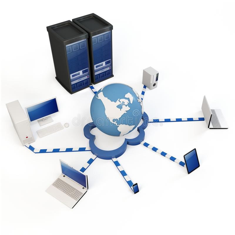 3dglobal  Cloud Computing Concept Royalty Free Stock Image