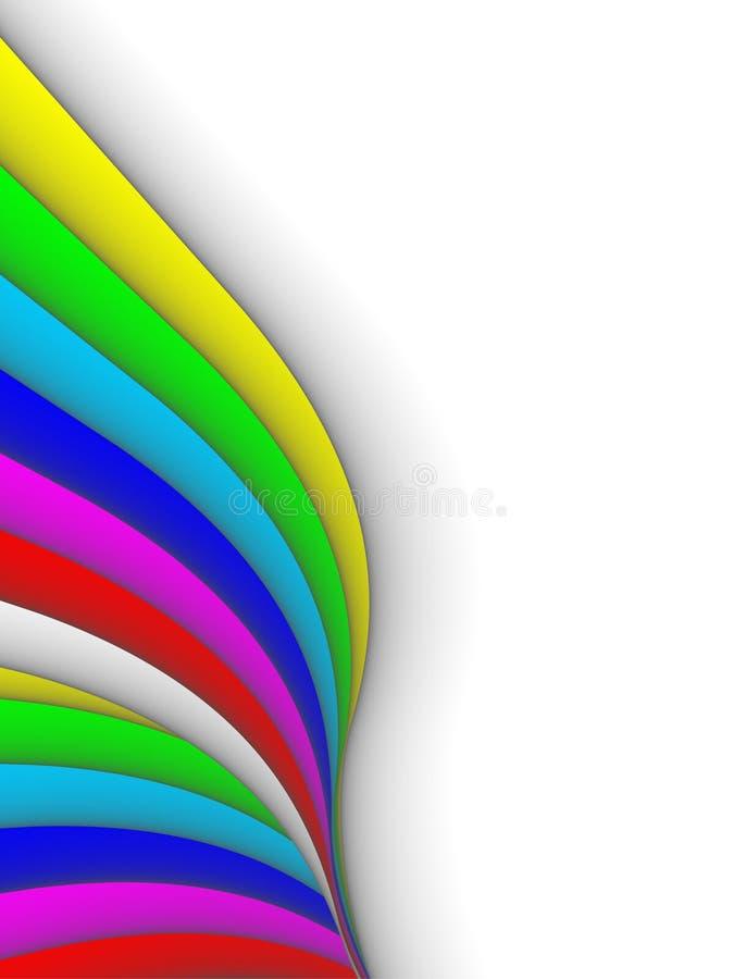 3ds lignes colorées, fond illustration libre de droits